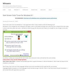 Start Screen Color Tuner for Windows 8.1
