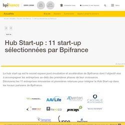 Hub Start-up : 11 start-up sélectionnées par Bpifrance