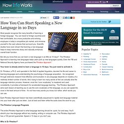How You Can Learn a Language in only 10 Days