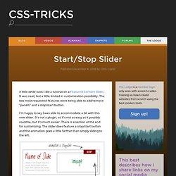 Start/Stop Slider