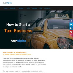 How to Start a Taxi Business - Step by Step