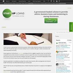 Start Up Loans Loans » Start Up Loans