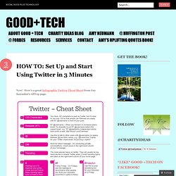 HOW TO: Set Up and Start Using Twitter in 3 Minutes « Good+Tech