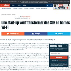 Une start-up veut transformer des SDF en bornes Wi-Fi (novembre 2015)