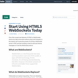 Start Using HTML5 WebSockets Today