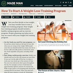 How To Start A Weight Loss Training Program