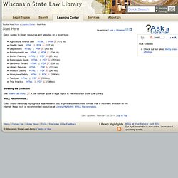 Start Here - Wisconsin State Law Library