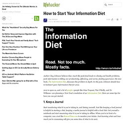 How to Start Your Information Diet