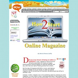 How To Start Your Own Online Magazine E-zine