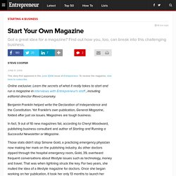 Start Your Own Magazine
