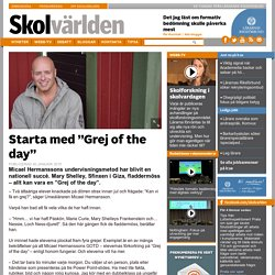 "Starta med ""Grej of the day"""