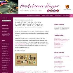 Hur startar du dina matematiklektioner?