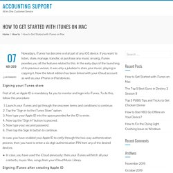How to Get Started with iTunes on Mac - Accounting Support