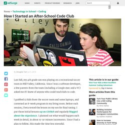 edsurge- How I started an after school code club