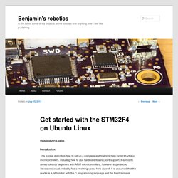 Get started with STM32F4 on Ubuntu Linux