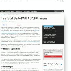 How To Get Started With A BYOD Classroom