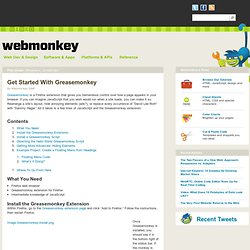 Get Started With Greasemonkey