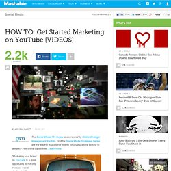 HOW TO: Get Started Marketing on YouTube