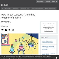 How to get started as an online teacher of English