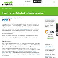 How to Get Started in Data Science