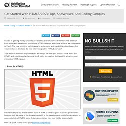 Get Started With HTML5: Tips, Showcases, And Coding Samples