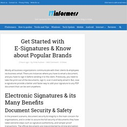 Get Started with E-Signatures & Know about Popular Brands - ITinformers