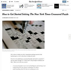 How to Get Started Solving The New York Times Crossword Puzzle