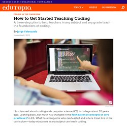 How to Get Started Teaching Coding in Any Grade