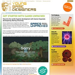 Get Started With Games Unpacked | BAFTA Young Game Designers