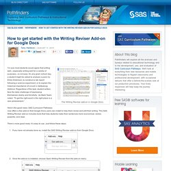 How to get started with the Writing Reviser Add-on for Google Docs - Pathfinders