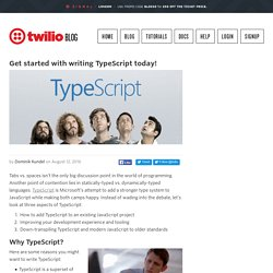 Get started with writing TypeScript today!