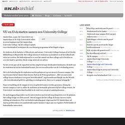 NRC: VU en UvA starten samen een University College