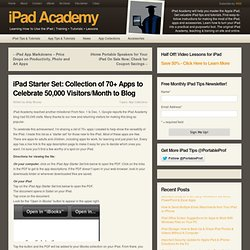 iPad Starter Set: Collection of 70+ iPad Apps, Nearly All Free