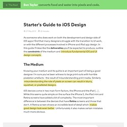 Starter's Guide to iOS Design
