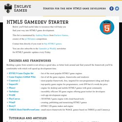 Starter for the new HTML5 game developers