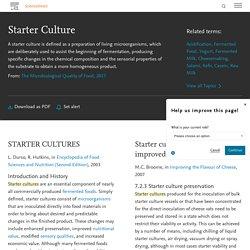 Starter Culture - an overview
