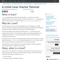 A Little Lens Starter Tutorial
