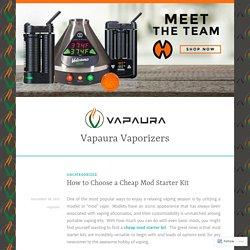 How to Choose a Cheap Mod Starter Kit – Vapaura Vaporizers
