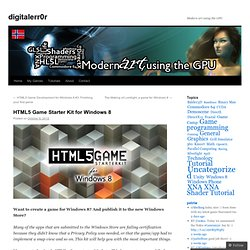 HTML5 Game Starter Kit for Windows 8 | digitalerr0r