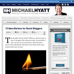 13 Idea-Starters for Stuck Bloggers