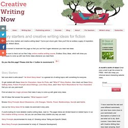 Story Starters, Creative Writing Ideas for Fiction