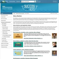 Story Starters / Teaching & learning resources / Success for Boys - Success for Boys
