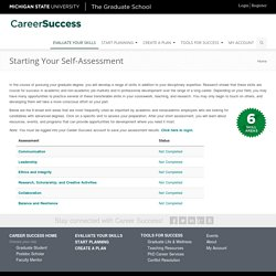 Starting Your Self-Assessment