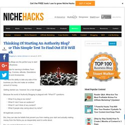 Starting An Authority Blog? Take This Simple Test First