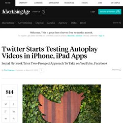 Twitter Is Starting to Test Autoplay Videos in iOS Apps