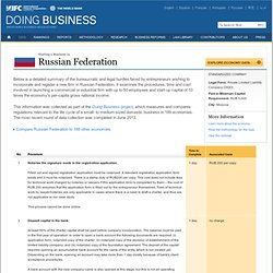 Starting a Business in Russian Federation