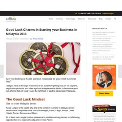 Good Luck Charms in Starting your Business in Malaysia 2016