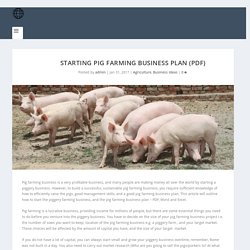 Starting Pig Farming Business Plan (PDF) - StartupBiz Global