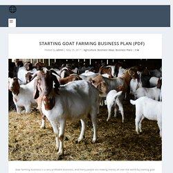 Starting Goat Farming Business Plan (PDF) - StartupBiz Global