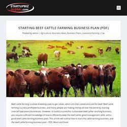 Starting Beef Cattle Farming Business Plan (PDF) - StartupBiz Global